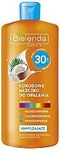 Voňavky, Parfémy, kozmetika Opaľovacie mlieko kokosový SPF30 - Bielenda Bikini Moisturizing Suntan Milk