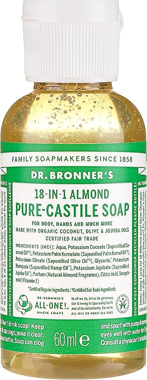 """Tekuté mydlo """"Mandle"""" - Dr. Bronner's 18-in-1 Pure Castile Soap Almond"""