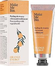 Voňavky, Parfémy, kozmetika Peeling na tvár s rastlinnými kyselinami - Make Me Bio Orange Energy Face Peeling With Vegetal Acids