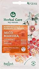 """Voňavky, Parfémy, kozmetika Maska na tvár """"Med a vitamín C"""" - Farmona Herbal Care Manuka Honey Face Mask"""