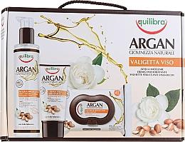 Voňavky, Parfémy, kozmetika Sada - Equilibra Viso Argan (micel/water/200ml + wipes/25pcs + f/cr/75ml)