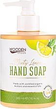 "Voňavky, Parfémy, kozmetika Tekuté mydlo ""Mätový citrón"" - Wooden Spoon Minty Lemon Hand Soap"