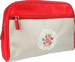 """Voňavky, Parfémy, kozmetika Kozmetická taška """"Mandala"""", 98161, červeno-šedá - Top Choice"""