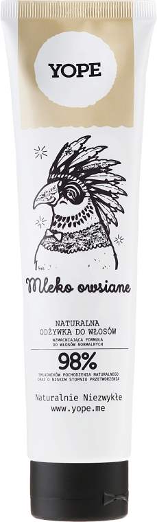 Prírodný kondicionér na normálne vlasy s ovseným mliekom - Yope