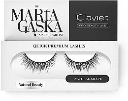 Voňavky, Parfémy, kozmetika Falošné mihalnice - Clavier Quick Premium Lashes Natural Beauty 827
