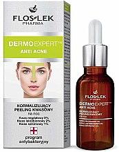 Voňavky, Parfémy, kozmetika Normalizujúci nočný peeling - Floslek Dermo Expert Anti Acne Peeling