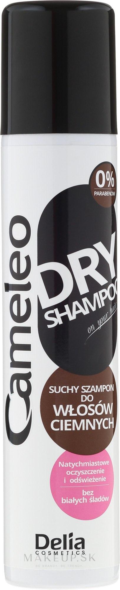 Suchý šampón pre tmavé vlasy - Delia Cameleo Brown Hair Shine Dry Shampoo — Obrázky 200 ml