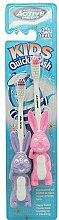 Voňavky, Parfémy, kozmetika Zubná kefka pre deti, 3-6 rokov, fialová + ružová - Beauty Formulas Active Oral Care