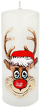 "Voňavky, Parfémy, kozmetika Dekoratívna sviečka ""Rudolf"", biela, 7x18cm - Artman Christmas Candle Rudolf"