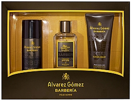 Voňavky, Parfémy, kozmetika Alvarez Gomez Agua De Colonia Concentrada Barberia - Sada (edc/150ml + deo/150ml + sh/gel/230ml)