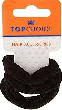 Voňavky, Parfémy, kozmetika Gumičky do vlasov 4 ks, čierna - Top Choice