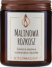 """Voňavky, Parfémy, kozmetika Voňavá sójová sviečka """"Malinové potešenie"""" - Bosphaera Raspberry Delight Candle"""