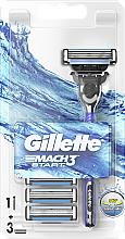 Voňavky, Parfémy, kozmetika Holiaci strojček s 3 výmennými kazetami - Gillette Mach 3 Turbo Start