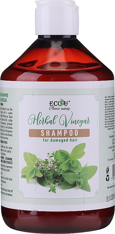 Šampón na poškodené vlasy - Eco U Herebal Vinegar Shampoo — Obrázky N1