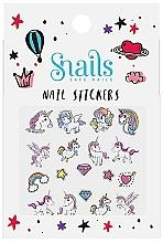 Voňavky, Parfémy, kozmetika Nálepky pre nechtový dizajn - Snails Nail Stickers (1ks)