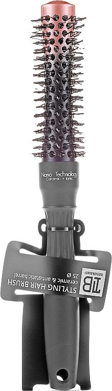 Keramická kefa okrúhla, 25 mm - Tools For Beauty Concave Styling Hair Brush — Obrázky N1