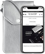 """Voňavky, Parfémy, kozmetika Púzdro a taška na mobil s remienkom, strieborná """"Cross"""" - Makeup Phone Case Crossbody Silver"""