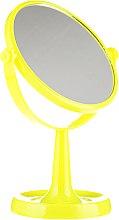 Voňavky, Parfémy, kozmetika Zrkadlo na stojané 85734, okrúhle, 15,5 cm, žlté - Top Choice Colours Mirror
