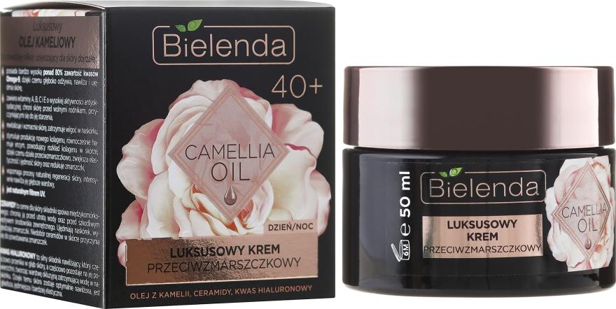 Hydratačný krém proti vráskam 40+ - Bielenda Camellia Oil Luxurious Anti-Wrinkle Cream 40+
