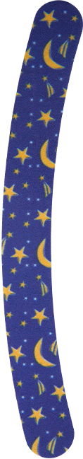 Pilník na nechty 180/180, modrý s hviezdami - Donegal — Obrázky N1