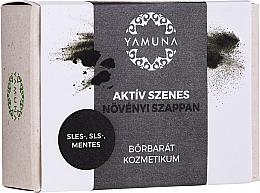 """Voňavky, Parfémy, kozmetika Mydlo """"Aktívne uhlie"""" - Yamuna Activated Carbon Vegetable Soap"""