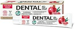 """Voňavky, Parfémy, kozmetika Zubná pasta """"Prírodná ochrana"""" s granátovým jablkom - Dental Bio Vital Natural Protection Toothpaste"""