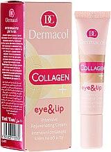 Voňavky, Parfémy, kozmetika Intenzívny krém proti starnutiu pre očné viečka a pery - Dermacol Collagen+ Eye & Lip Cream