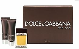 Voňavky, Parfémy, kozmetika Dolce & Gabbana The One for Men - Sada (edt 100ml + a/sh balm 50ml + sh/gel 50ml)