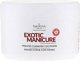 Voňavky, Parfémy, kozmetika Cukorový peeling na ruky - Farmona Egzotic Manicure Scrub