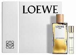 Voňavky, Parfémy, kozmetika Loewe Aura White Magnolia - Sada (edp/100ml + edp/15ml)