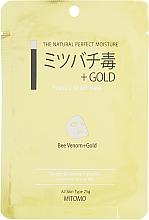 """Voňavky, Parfémy, kozmetika Textilná maska na tvár """"Zlato a včelí jed"""" - Mitomo Essence Sheet Mask Bee Venom + Gold"""
