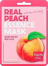 Voňavky, Parfémy, kozmetika Látková pleťová maska s výťažkom z broskyne - FarmStay Real Peach Essence Mask
