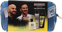 Voňavky, Parfémy, kozmetika Sada - Dermacol Men Agent Total Freedom (sh/gel/250ml + after/shave/lotion/100ml + deo/spray/150ml)