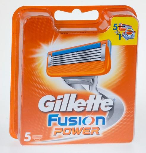 Vymeniteľné kazety na holenie, 5 ks - Gillette Fusion Power — Obrázky N1