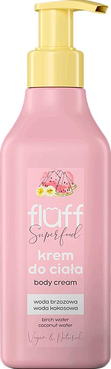 "Krém na telo ""Banán s melónom"" - Fluff Superfood Body Cream"