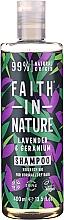 """Voňavky, Parfémy, kozmetika Šampón pre normálne a suché vlasy """"Levanduľa a pelargónia"""" - Faith In Nature Lavender & Geranium Shampoo"""