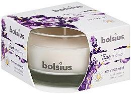 """Voňavky, Parfémy, kozmetika Vonná sviečka v pohári """"Levanduľa a harmanček"""", 50/80 mm - Bolsius True Moods Candle"""