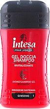 Voňavky, Parfémy, kozmetika Šampónový sprchový gél s extraktom ženšenu - Intesa Classic Black Shower Shampoo Gel Revitalizing