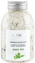 """Voňavky, Parfémy, kozmetika Minerálna soľ do kúpeľa """"Zelený čaj"""" - Kanu Nature Mineral Green Tea Bath Salt"""