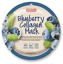 Voňavky, Parfémy, kozmetika Kolagénová maska s čučoriedkou - Purederm Blueberry Collagen Mask