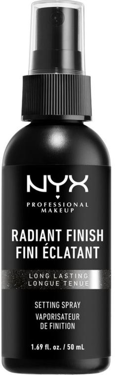 Fixátor s efektom žiarenia - NYX Professional Makeup Radiant Finish Setting Spray Long Lasting