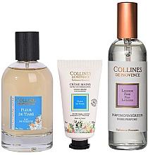 Voňavky, Parfémy, kozmetika Collines De Provence Tiare Flower - Sada (edt/100ml + h/cr/30ml + aroma/spray/100ml)