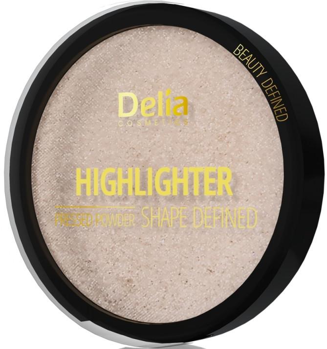 Rozjasňovač - Delia Highliter Shape Defined Pressed Powder — Obrázky N1