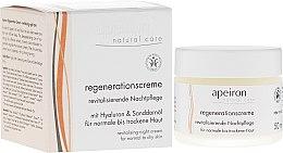 Voňavky, Parfémy, kozmetika Regeneračný nočný krém pre normálnu a suchú pokožku - Apeiron Night Regeneration Cream