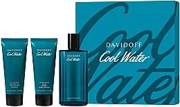 Voňavky, Parfémy, kozmetika Davidoff Cool Water - Sada (edt/125ml + sh/gel/75ml + ash/balm/75ml)