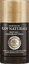 Voňavky, Parfémy, kozmetika Tuhý dezodorant - Recipe For Men RAW Naturals No. 1 Deodorant Stick