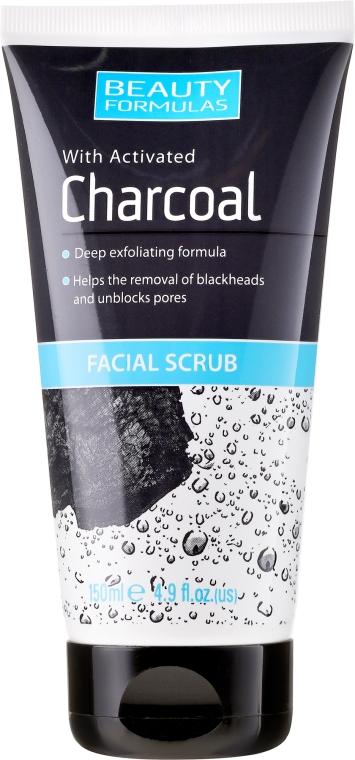 Peeling pre hĺbkové čistenie pokožky - Beauty Formulas Charcoal Facial Scrub