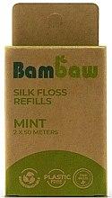 """Voňavky, Parfémy, kozmetika Hodvábna dentálna niť """"Mäta"""" - Bambaw (náhradná jednotka)"""