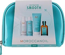 Voňavky, Parfémy, kozmetika Sada - Moroccanoil Smooth & Sleek Travel Kit (shm/70ml + cond/70ml + mask/75ml + oil/25ml + bag)