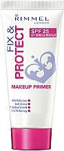 Voňavky, Parfémy, kozmetika Primer pre tvár - Rimmel Fix & Protect Makeup Primer SPF25